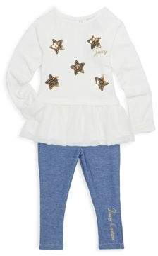 Juicy Couture Baby's Two-Piece Star Tunic and Leggings Set
