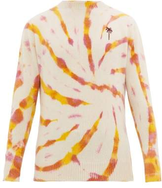 The Elder Statesman Tie Dye Cashmere Sweater - Mens - White Multi
