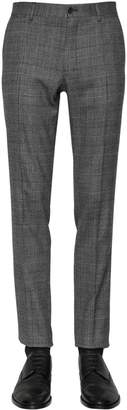 Dolce & Gabbana 16.5cm Stretch Wool Prince Of Wales Pant
