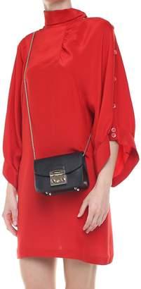 Furla Mini Metropolis Pebbled-leather Shoulder Bag