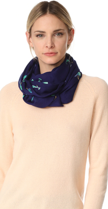 Kate Spade New York Peacock Oblong Scarf $78 thestylecure.com