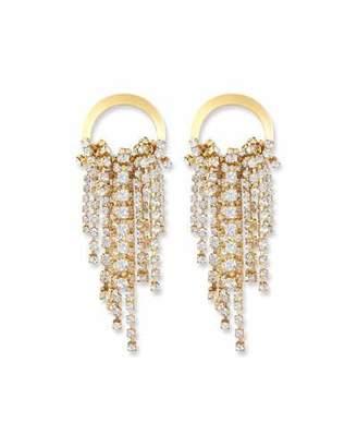Elizabeth Cole Rowan Crystal Dangle Earrings, Clear