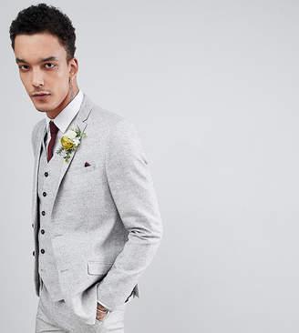 Heart & Dagger Slim Wedding Suit Jacket In Linen Texture