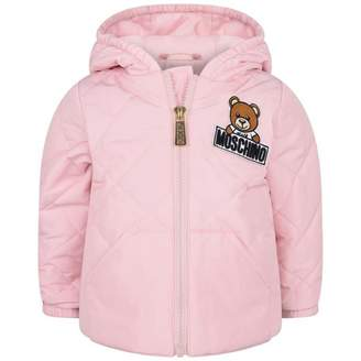 Moschino Girls Pink Quilted Jacket