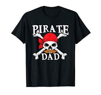 Pirate Dad T-Shirt Jolly Roger Skull Captain Daddy Tee Gift