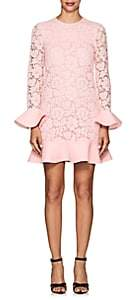 Valentino Women's Corded Lace Flounce Shift Dress - Pink