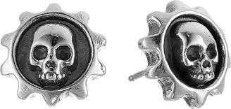 King Baby Studio - Gear Skull Post Earrings Earring $145 thestylecure.com