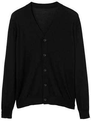 MANGO Buttoned wool cardigan