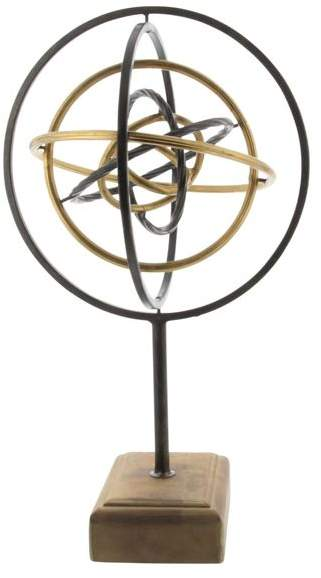 Brimfield & May Contemporary Iron and Wood Armillary Sphere