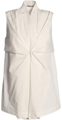 Chalayan Pleated Cotton-Poplin Top