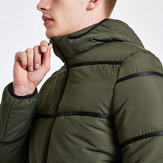 River Island Only and Sons khaki padded coat