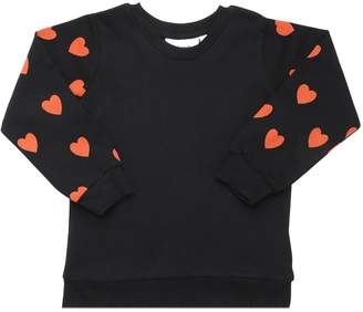 Mini Rodini Hearts Cotton Fleece Sweatshirt