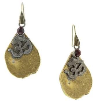 1928 T.R.U. Jewelry Lake Arrowhead Casted Agate Organic Earrings