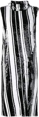 Halpern striped sequin dress