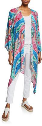 633a0f1a6d5 Tolani Plus Size Ramina Printed Kimono Duster