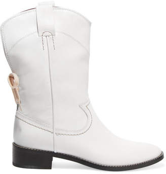 See by Chloe Leather Ankle Boots - White