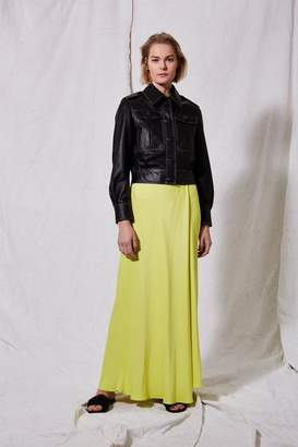 Boutique **yellow wrap maxi skirt