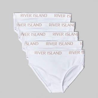 River Island Mini girls white glitter briefs multipack 320bff36f