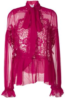 Givenchy semi sheer blouse