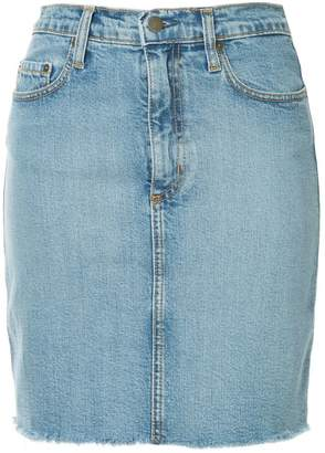 Nobody Denim Siren high-rise denim skirt