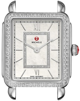 Women's Michele Deco Ii Diamond Dial Watch Case, 26Mm X 28Mm (Nordstrom Exclusive) $1,795 thestylecure.com