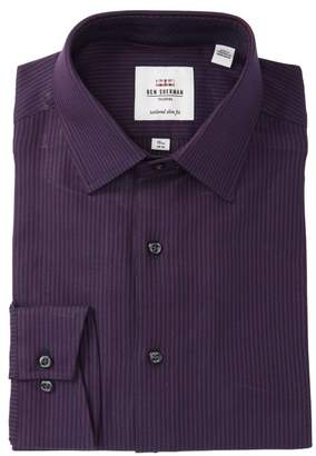 Ben Sherman Textured Stripe Slim Fit Dress Shirt
