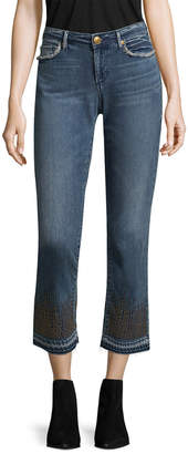 True Religion Cora Mid Rise Straight Crop Pant