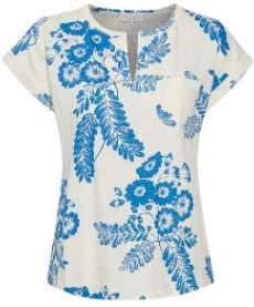 Part Two - Blue Kedita Floral T Shirt - X Small - Natural/Blue