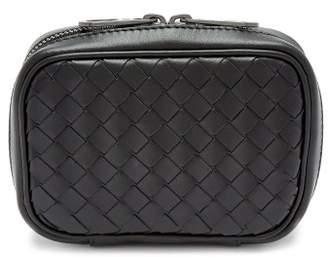 Bottega Veneta - Intrecciato Leather Cufflink Case - Mens - Black