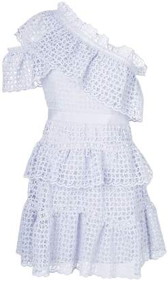 Self-Portrait lace eyelet ruffle dres