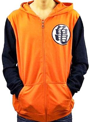 Dragon Ball Z PIZZ ANNU Goku Kae Sybol Orange Long/Short Sleeves Hoodie Adult Zip Hoody (, LOGUIOrange)