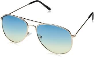 A. J. Morgan A.J. Morgan Skye Aviator Sunglasses, Gold/Blue