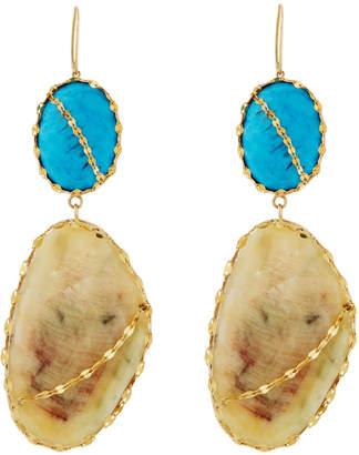 Lana 14k Turquoise Double-Drop Earrings