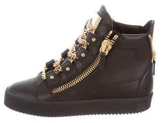 Giuseppe Zanotti Chain-Link High-Top Sneakers