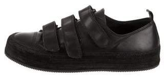 Ann Demeulemeester Leather Low-Top Sneakers