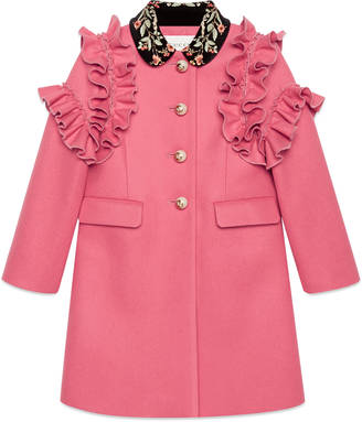 Children's wool coat with embroidery $1,480 thestylecure.com