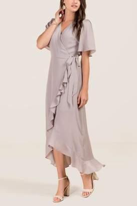 Willow Wrap Bridesmaid Dress - Gray