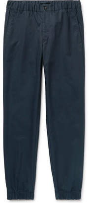 Incotex + Nanamica Slim-fit Tapered Cotton-twill Drawstring Trousers - Storm blue