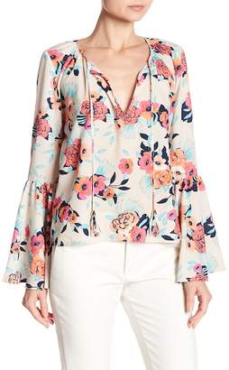 Yumi Kim Wanderlust Floral Bell Sleeve Blouse