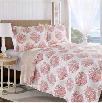 Laura Ashley King Coral Coast Quilt Set Bedding