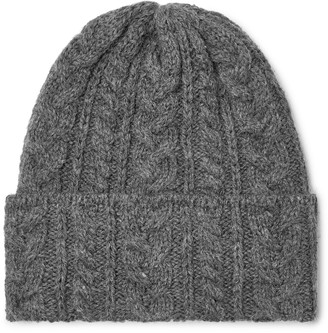 Drakes Drake's Cable-Knit Wool Beanie