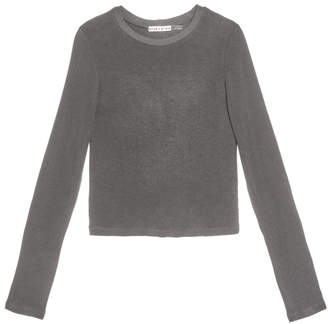 Alice + Olivia JAYLENE LONG SLEEVE CROP TOP