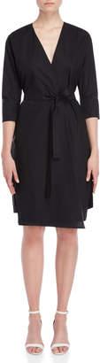 Roberto Collina Black Belted Wrap Dress