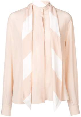 Givenchy neck-tied long sleeve blouse