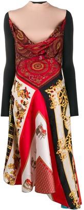 Marine Serre printed drape dress