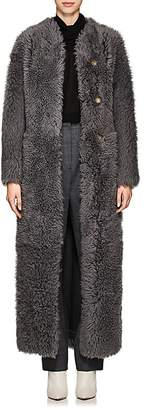 The Row Women's Tralman Shearling Collarless Coat