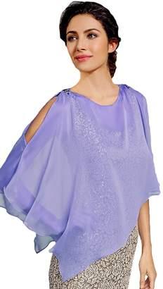 Rong store Fashion Women's Sheer Chiffon Overlay M