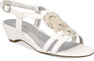 Karen Scott Clemm Wedge Sandals, Only at Macy's $49.50 thestylecure.com