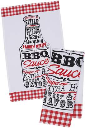 Design Imports BBQ Sauce Dish Towels (Set of 4)