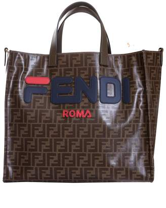 Fendi Multicolor Fabric Shopper Bag
